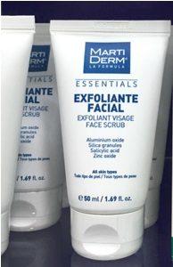 eliminar imperfecciones exfoliante facial martiderm