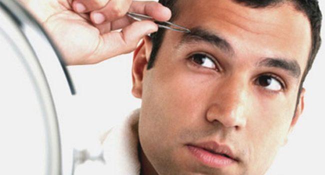 depilación de cejas para hombres