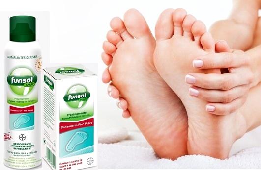 Cómo eliminar el olor de pies con Funsol
