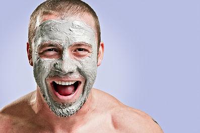 Mascarilla facial natural para hombres